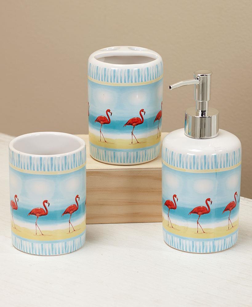 Flamingo Tropical Paradise Bath Collection Curtain Hooks