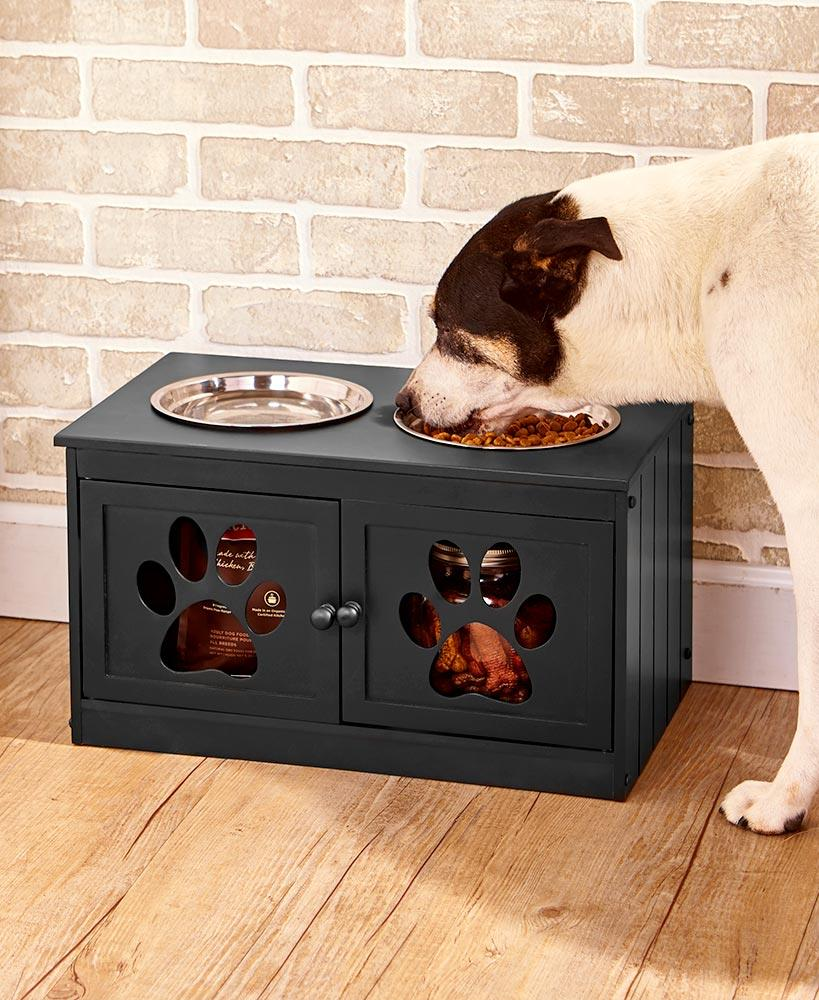 Dog Owners Will Love This Storage Cabinet With Elevated Pet Bowls. It  Provides A Healthy Raised Feeding Station As Well As Space To Store Toys,  Treats, ...