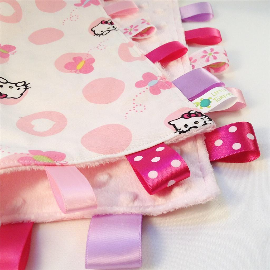 HELLO KITTY DOTS Baby Security Blanket Toy + FREE Dummy