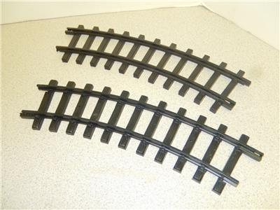 BRASS WIDE RADIUS CURVE TRACK 2 SECTIONS G SCALE B1