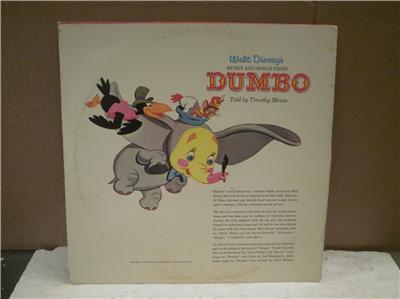 RECORD ALBUM- WALT DISNEY'S DUMBO- ORIGINAL SOUNDTRACK- 33 ...