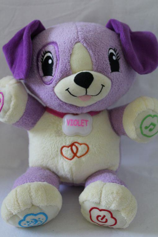Leap Frog Interactive My Pal Violet Puppy Dog Wusb Cord Plushtoy