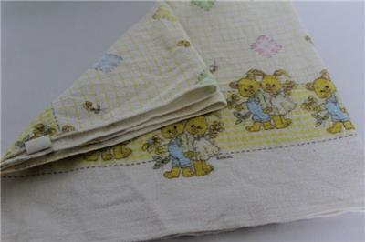 5a59aaf053 ... swaddling Baby Blanket  Bunnies   flowers print  Made in USA. Click  images to enlarge