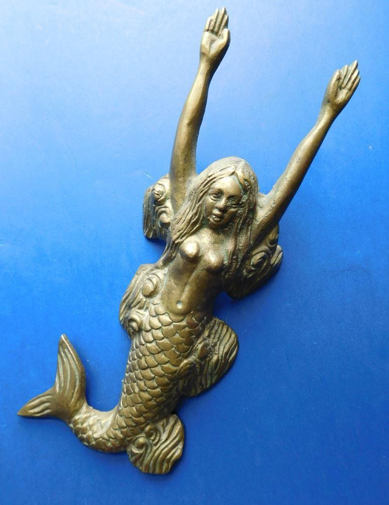 Lovely-Antique-Solid-Brass-Mermaid-Boot-Pull-Boot-Jack-1900s