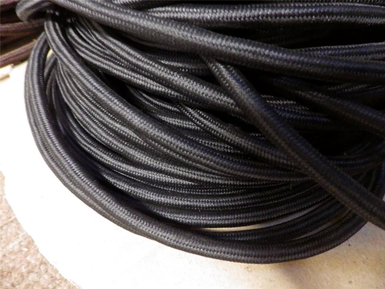 1metre Deco Textile Fabric Electrical Cord Cloth Cable 3