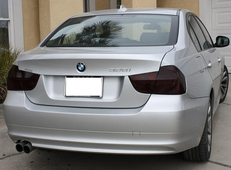 09 11 bmw e90 3 series sedan smoke tail light precut tint. Black Bedroom Furniture Sets. Home Design Ideas