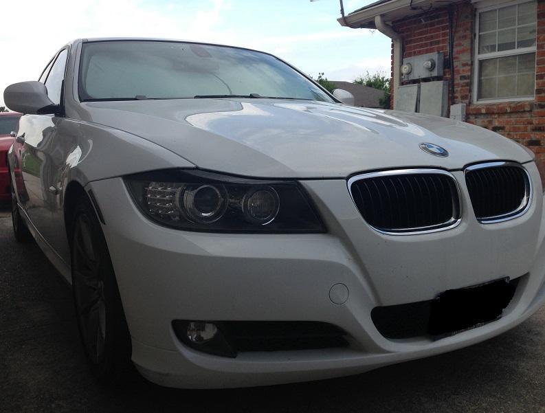 Precut Vinyl Tint EYELID Overlay for 2006-2008 BMW 3 Series Sedan Headlights 35/% Light Smoke