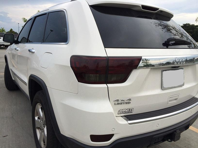 Details about 2011-2013 JEEP GRAND CHEROKEE SMOKE TAIL LIGHT PRECUT TINT  COVER SMOKED OVERLAYS