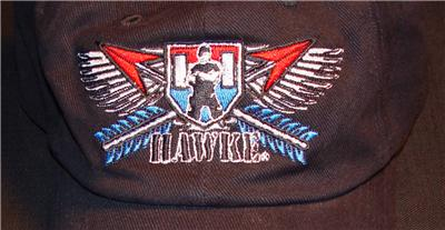 """/""""Hawke/"""" Embroidered Ball Cap New With Tag Mfg Port Authority Black Adjustable"""