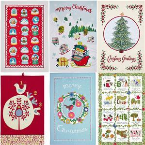 Nouveau Ulster Weavers Festive Foraging Fox 100/% COTON Thé Serviette Noël UK Made