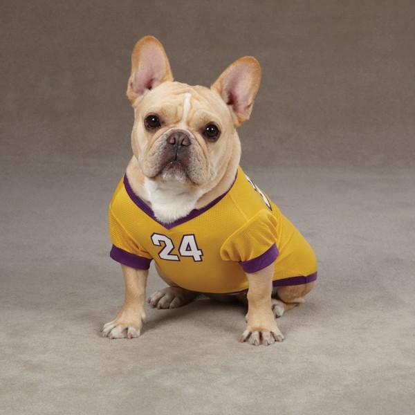 24 Kobe Bryant Dog Jersey La Lakers NBA Pet Puppy Mesh T Shirt Clothes Apparel