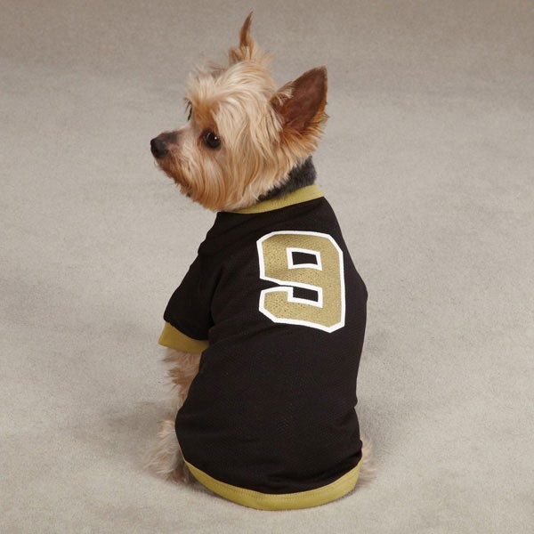 9 Drew Brees Dog Jersey New Orleans Saints Pet Mesh T Shirt Clothes Apparel