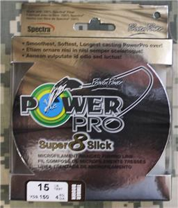 Power Pro Braid Super 8 Slick Fishing Line Timber Brown 150yd 40lb
