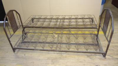 Vintage Wwi Early 1900 S Military Bed All Metal W