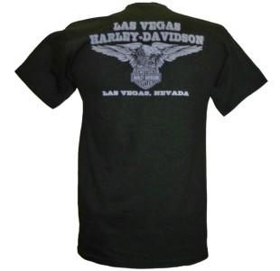 Harley Davidson Las Vegas Dealer Tee T Shirt Willie G Skull BLACK