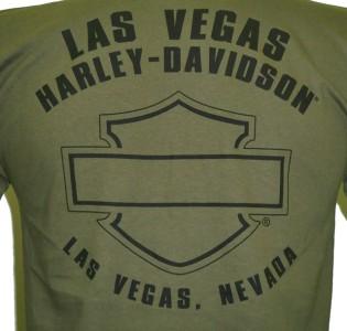 Harley Davidson Las Vegas Dealer Tee T Shirt GREEN MEDIUM #BRAVA1