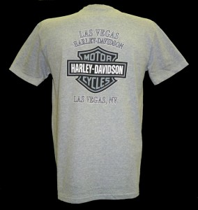 Harley Davidson Las Vegas Dealer Tee T Shirt GRAY MEDIUM #TSX