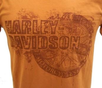 Harley Davidson Las Vegas Dealer Tee T Shirt ORANGE MEDIUM #TSX