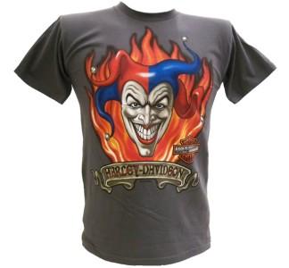 Harley Davidson Las Vegas Dealer Tee T Shirt Joker GRAY MEDIUM #BRAVA1