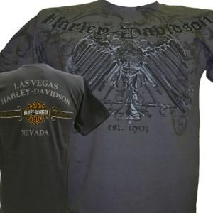 Harley Davidson Las Vegas Dealer Tee T Shirt GRAY MEDIUM #BRAVA1