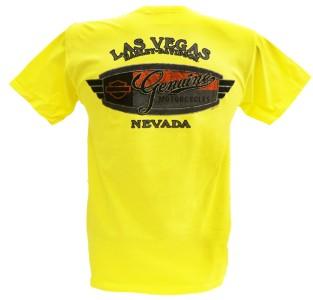 Harley Davidson Las Vegas Dealer Tee T Shirt YELLOW XL #RKS