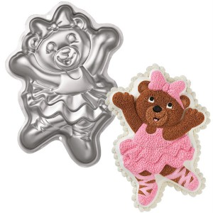 Wilton Ballerina Bear Dancer Cake Pan 2105 1028 Teddy Aluminum