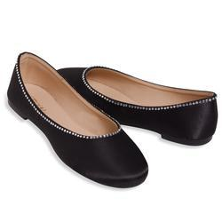 d08bccc7e2309 Details about ESNY Occasions® Satin Ballerina Flat Dressy Shoes BLACK