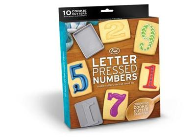 Letter Pressed Numbers Cookie Cutter Stampers All In One