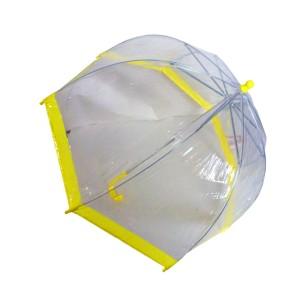 Children S Clear Plastic Bubble Umbrella 4 Color Trims To