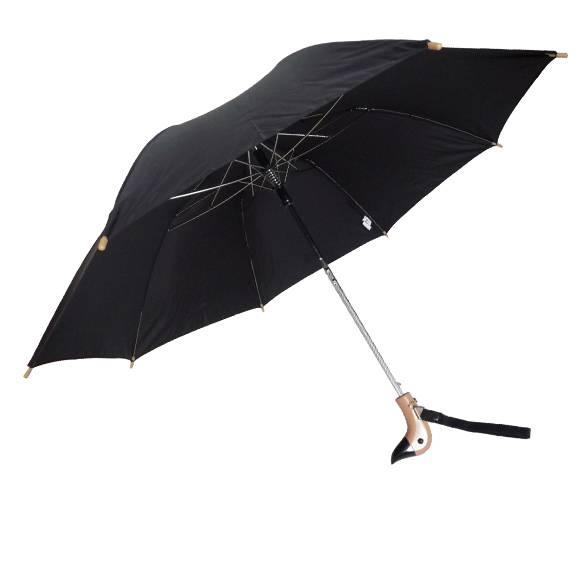 Auto Open Wooden Duck Handle 18 Quot Folding Umbrella 44 Quot Arc