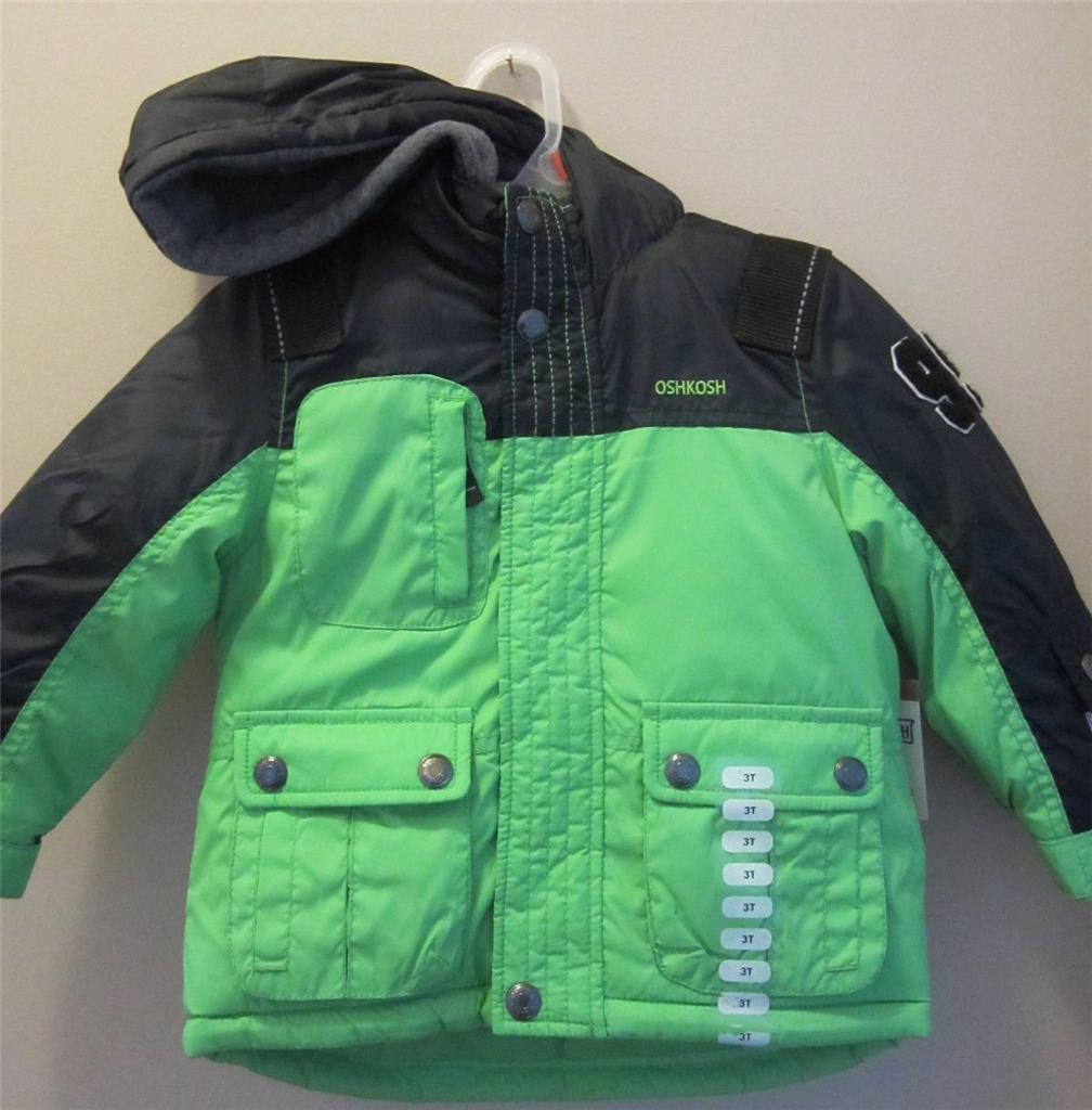 Oshkosh Lime Green Toddler Boys 4 Coats In 1 WARM Winter ...