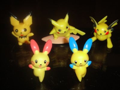 5 POKEMON FIGURES Pikachu Raichu Pichu Plusle Minun | eBay