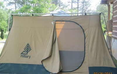 save off cd133 bf313 Vintage Canvas Cabin Tent 6 8 Person Hillary GUC on PopScreen