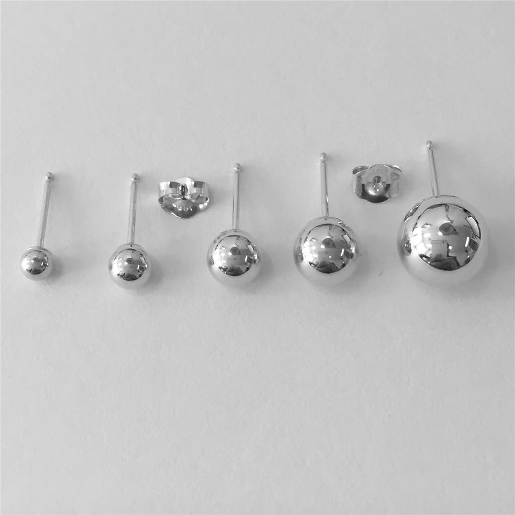 how big is 8mm earrings 14k solid white gold stud earrings sizes 3mm 4mm 5mm 311