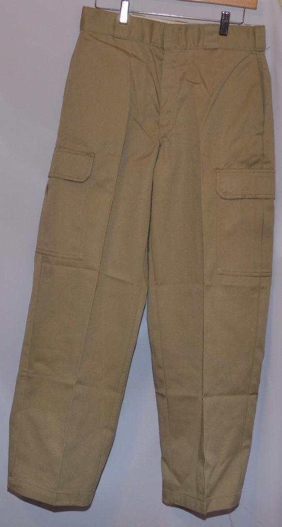 Dickies Loose Fit Khaki Tan Beige Cargo Durable Work Pants ...
