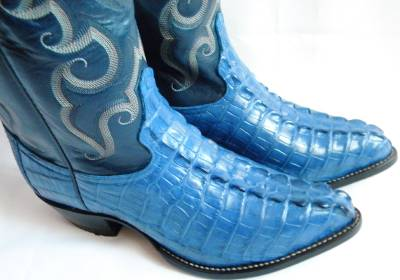 New Tony Lama Clemaris Blue Caiman 8 5 Ee Alligator Tail Cowboy Boot Made In Usa Ebay