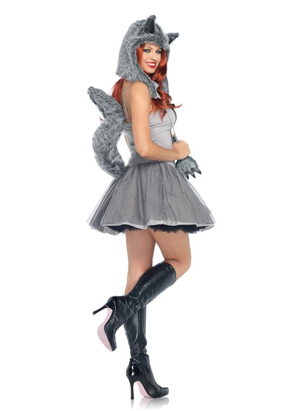 Image is loading Sexy-Gray-Grey-Wolf-Petticoat-Dress-and-Hoodie-  sc 1 st  eBay & Sexy Gray Grey Wolf Petticoat Dress and Hoodie Adult Womenu0027s ...