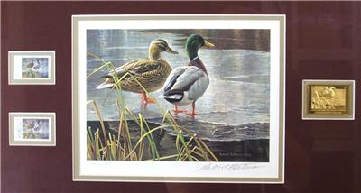 1985 CANADA DUCK STAMP PRINT- FRAMED - FIRST OF NATION ...
