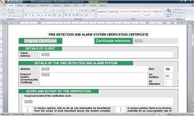 Electrical certificates software amd no 3 compliant for Emergency lighting test certificate template