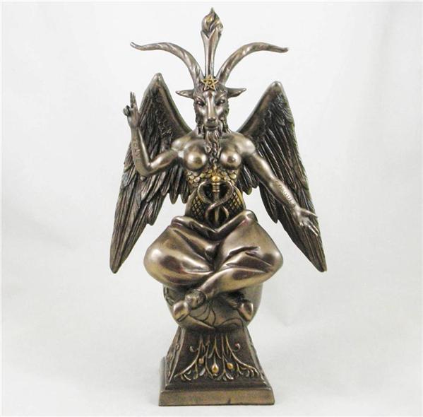BAPHOMET Bronzed FIGURINE - SATANIC DEMON - OCCULT Goat of ... - photo#5