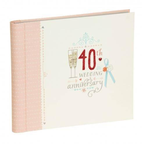 Hallmark Wedding Anniversary Gifts: Hallmark 40th Ruby Wedding Anniversary Album