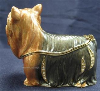Bejeweled Yorkie   Yorkshire Terrier Dog Trinket Box