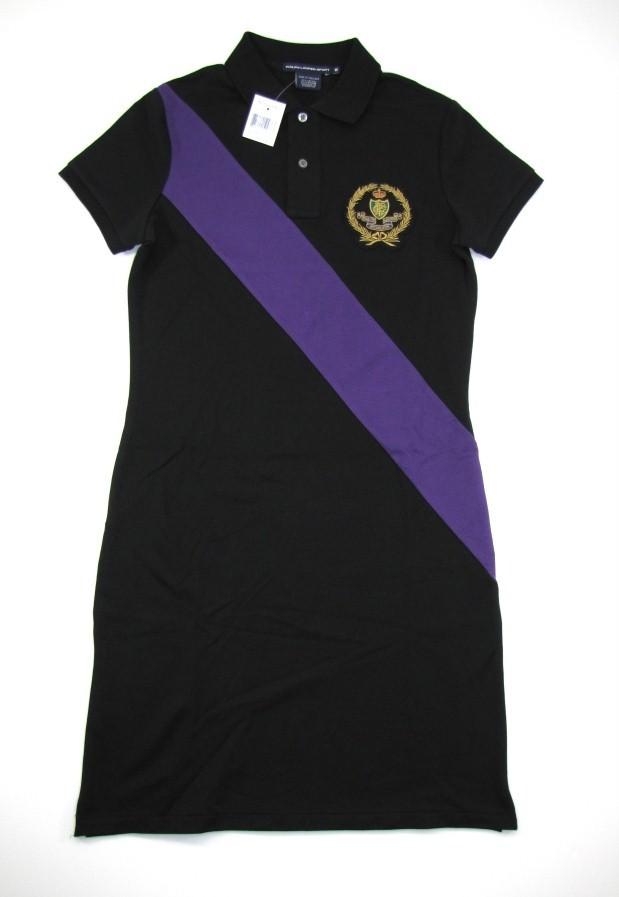 Ralph Lauren Womens Polo Shirt Dress Black XS New