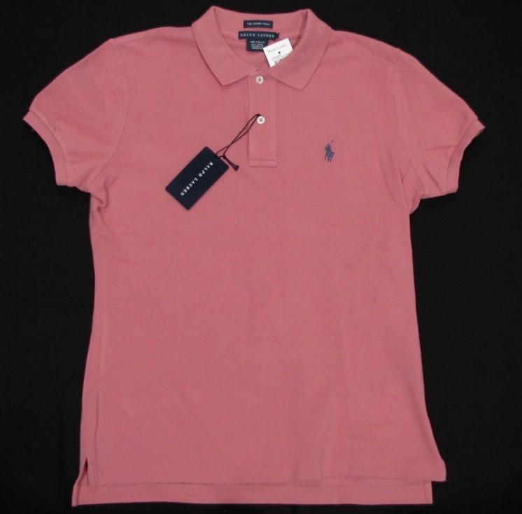 neu ralph lauren damen skinny polo shirt hemd l 42 rosa. Black Bedroom Furniture Sets. Home Design Ideas