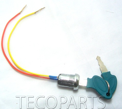 most escooters use 2 wires ignition key switch some gas pocket bikes