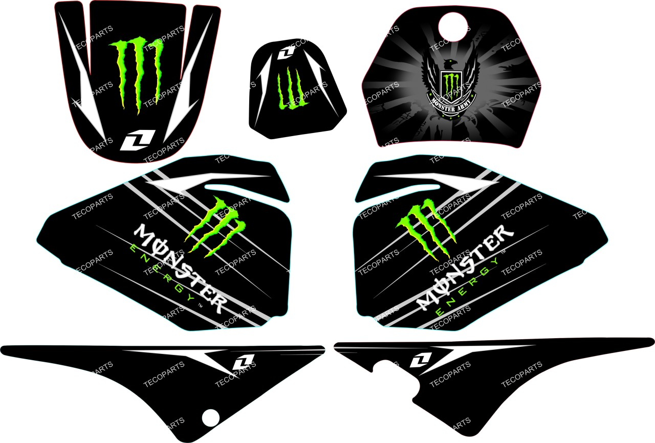 monster graphics decal stickers yamaha pw80 pw 80 ebay. Black Bedroom Furniture Sets. Home Design Ideas
