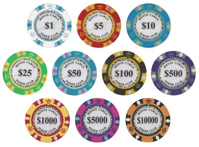 these 14 gram monte carlo clay poker chips will bring the look