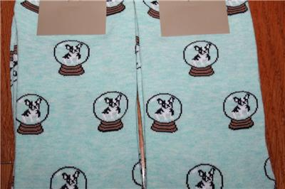 Crew Womens Trouser Socks Boston Terriers French Bulldogs *2B TWO 2 NEW NWT J