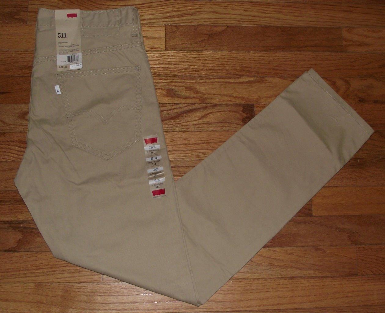 Pantalones Levis Color Caqui