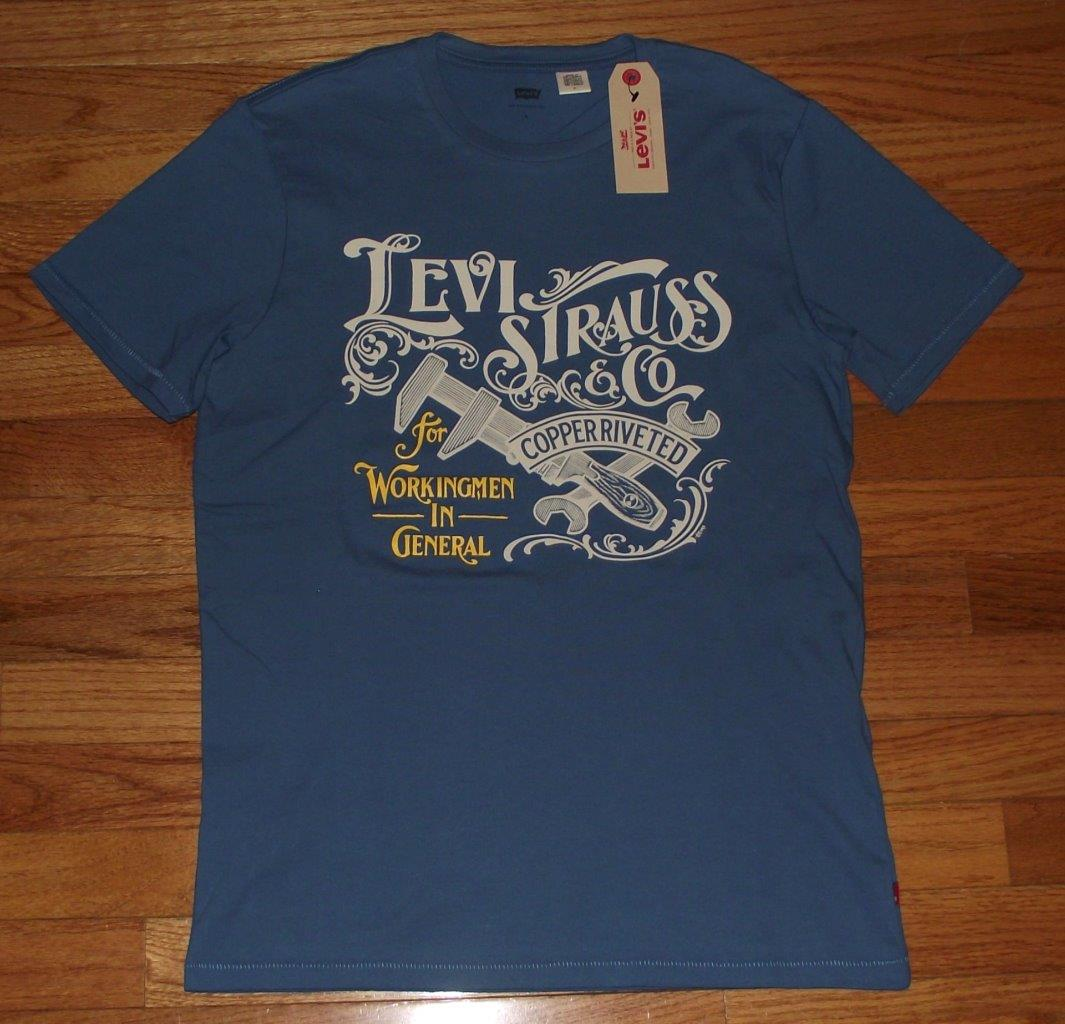 new nwt mens levi strauss levi 39 s t shirt graphic logo tee choice 5 styles 1t ebay. Black Bedroom Furniture Sets. Home Design Ideas